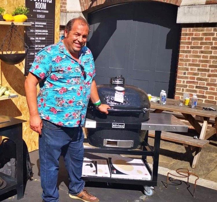 Marcus Bawdon primo grill uk