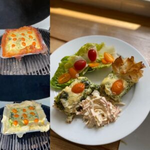 Tray baked Quiche
