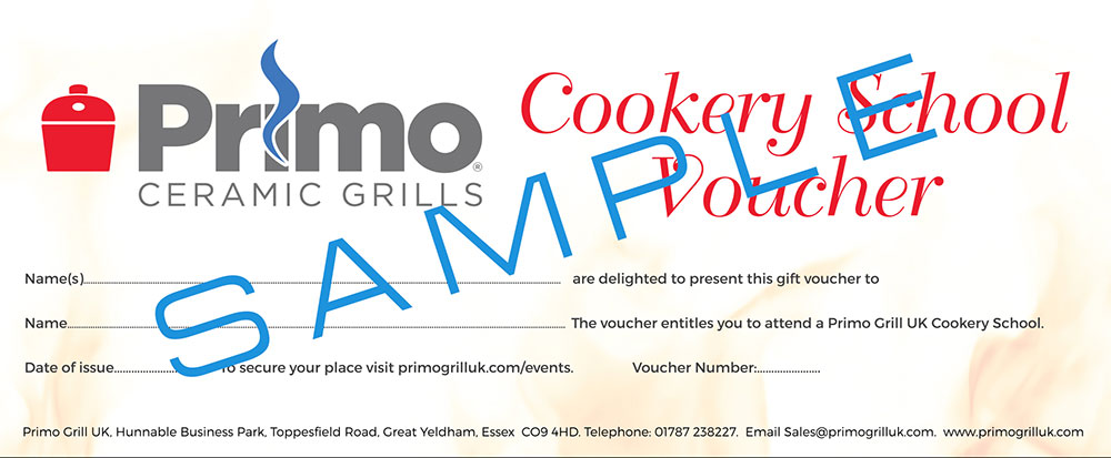 Primo Grill Cookery School Gift Voucher