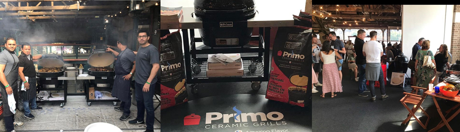 Professional Chefs and competition winners with Primo Ceramic Grills at Meatopia 2019