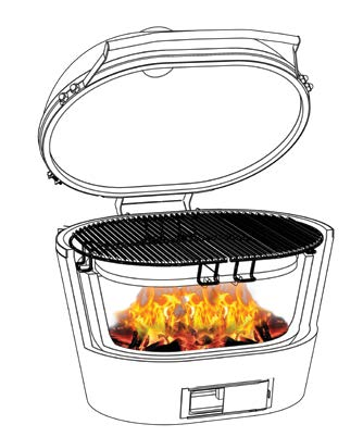 Smoking on the primo grill