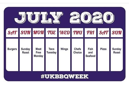 UK BBQ Week menu 2020